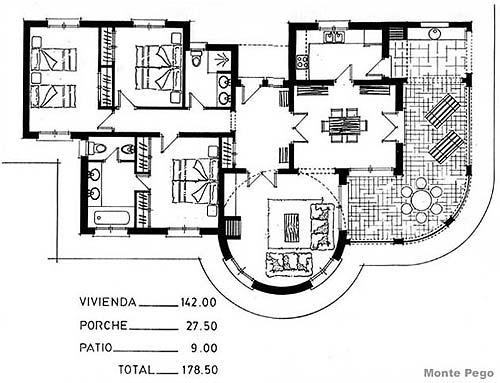Villa plans autocad villa residential autocad project for Villa plan dwg