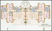 Plan of the Ground floor villas 1 & 2